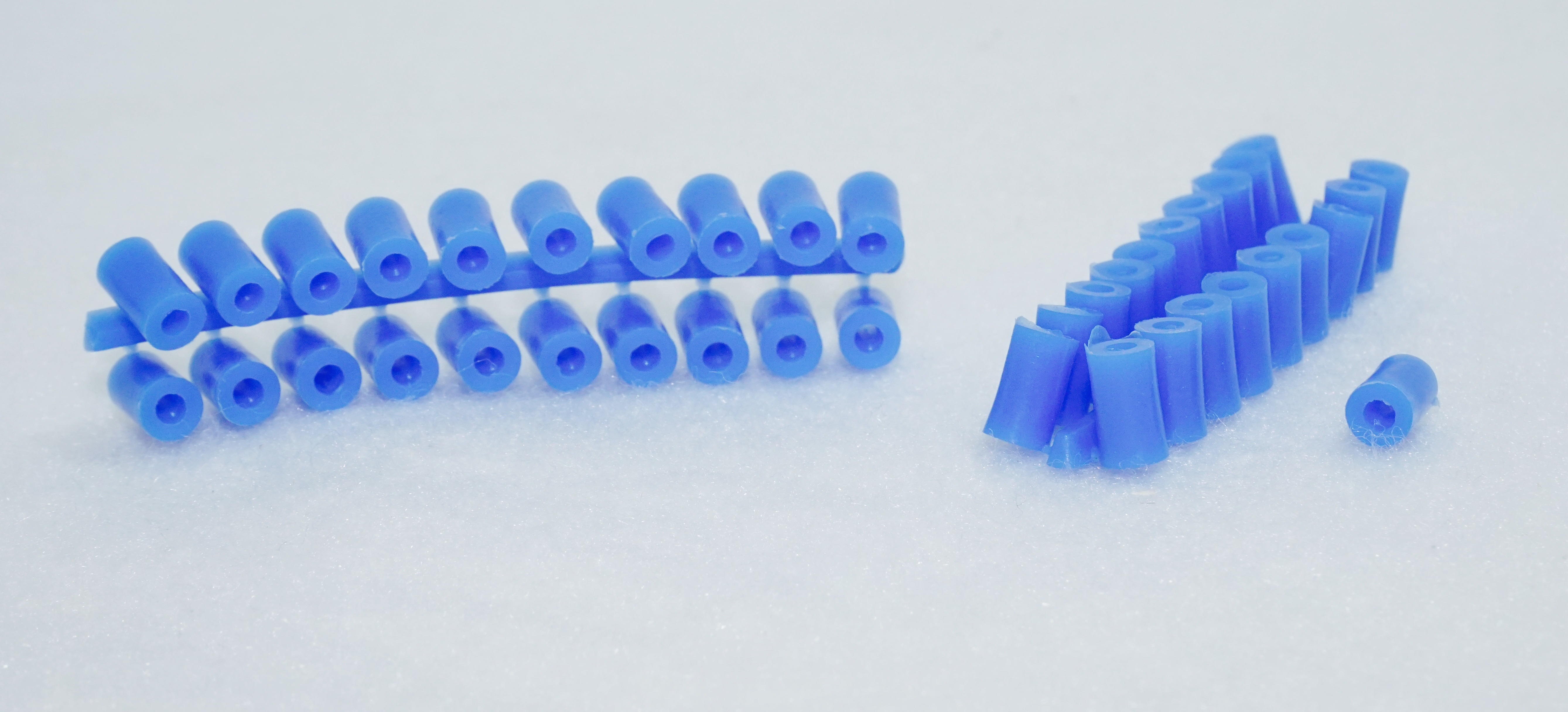 Abstandröllchen aus Plastik